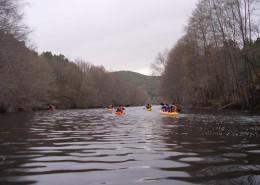 Kayak en el río Manzanas