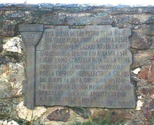 Inscripción, San Pedro de la Nave