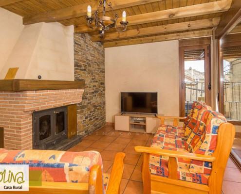 Casa rural romántica con con chimenea
