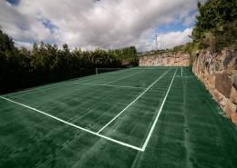 Pista de tenis cara rural