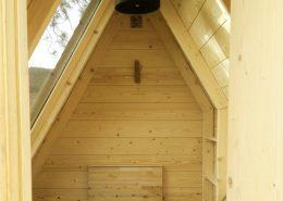 Detalle del interior de una cabaña
