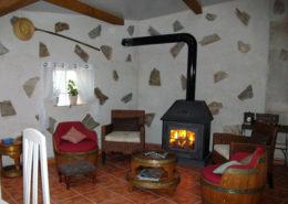 Casa rural chimenea