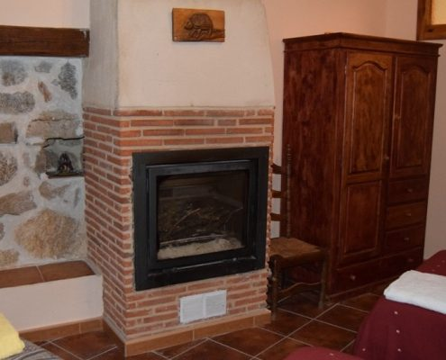 hotel rural con chimenea en la habitacion zamora