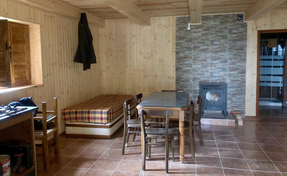 dormir en una cabaña